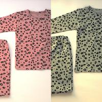 【在庫一掃!まとめ買い】レオパード柄パジャマ 2点セット 100cm ¥4,360→¥2,280【送料無料】
