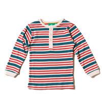 Little Green Radicals 「海の」ストライプ リブ 長袖Tシャツ 98/ 104/ 110/ 116/ 122/ 128cm