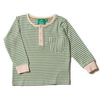 Little Green Radicals Alpine Green Stripe Pocket T 98/ 104/ 110/ 116/ 122/ 128cm