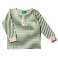 Little Green Radicals Alpine Green Stripe Pocket T 98/ 104/ 110/ 116/ 122/ 128cm