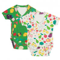 Piccalilly Grow Your Own 野菜 BODY 2枚セット 68/ 80/ 86cm