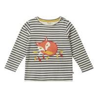 Piccalilly ストライプ Tシャツ キツネ 86/ 92/ 98/ 104/ 110/ 116/ 122/ 128/ 134/ 140cm