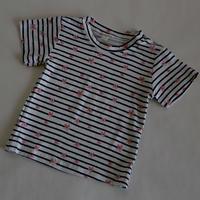 ストライプ×小花 Tシャツ 90~110cm