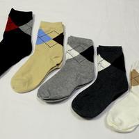 アーガイル柄Socks 5足セット 16-18/ 18-22cm