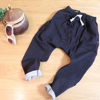 デニム風ハーレムパンツ Black 130cm/ 140cm