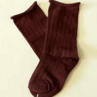 無地Plain Socks Brown 1足 7-14/ 18-22cm