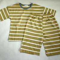 ストライプ半袖パジャマ Yellow 130/ 140cm
