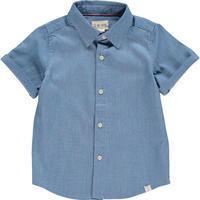 Me & Henry 平織りシャツ DenimBlue 116cm/ 122cm/ 132cm/ 135cm