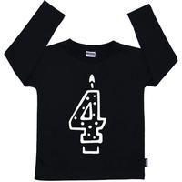 Cribstar 4 Candle Long Sleeve T Black 104cm(3-4y)