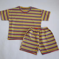 マルチストライプMulti Stripe Pajama Yellow 100~120cm