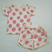 Taped Dot Pajama Pink 80~100cm