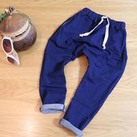 デニム風ハーレムパンツ Blue 100~130cm