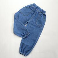 薄手コットンデニムパンツ Blue 110~130cm