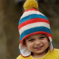 Piccalilly Stripy Knit Hat 3-5y