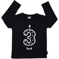 Cribstar 3 Candle Long Sleeve T Black 98/ 104cm