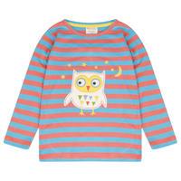 Piccalilly Stripy Owl Tshirt 80/ 86/ 92/ 98/ 104/ 110/ 116cm