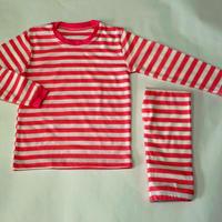 【新色】ストライプパジャマStripe Pajama Pink 100~120cm