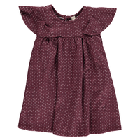 Vignette ROTTIE Dress Burgandy 98/ 104/ 110/ 116/ 122/ 128/ 135cm