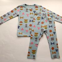 幾何学模様パジャマ ブルー 90~130cm