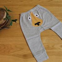グレーパンツ トボけたクマ Baby Cotton Pants Bear 70cm(9ヶ月)/75cm(12ケ月)