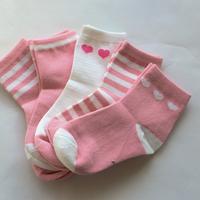 Pink Socks 5足セット 14-16/ 16-18/ 18-22cm