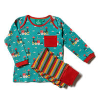 Little Green Radicals Sky Train Pajamas 98cm