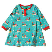 Little Green Radicals Sky Train Dress 98/ 104/ 110/ 116cm