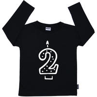 Cribstar 2 Candle Long Sleeve T Black 98cm(2-3y)