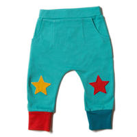 Little Green Radicals Turquoise Star Joggers 98/ 104/ 110/ 116/ 122cm