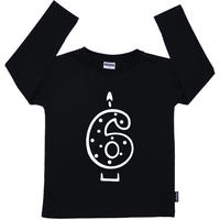 Cribstar 6 Candle Long Sleeve T Black 122cm(6-7y)