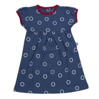 HUGABUG Polka Dot Dress Navy 80/ 92cm