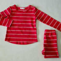 Double Stripe Pajama Pink 90cm/ 110cm ※残り90cmのみ