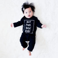 Cribstar Not Your Basic Baby Romper Black 72/ 80cm