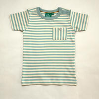 Little Green Radicals Duck Egg Blue Stripe T 98cm/ 104cm/ 110cm/ 116cm/ 122cm