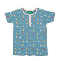 Little Green Radicals サマーデイズTシャツ ブルー 86/ 92/ 98/ 104/ 110/ 116/ 122/ 128cm