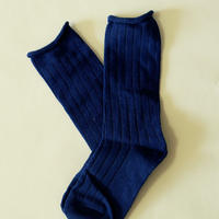 無地 Plain Socks Blue1足 14-18cm