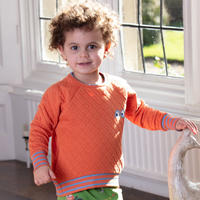 Piccalilly Spicy Orange Quilted Sweatshirt 104/ 110/ 116/ 122/ 128/ 134/ 140cm
