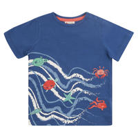 Piccalilly Sea Waves 波 Tシャツ 80/ 86/ 92/ 98/ 104/ 110/ 116/ 122/ 128/ 134/ 140cm