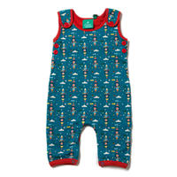 Little Green Radicals Night Sky Rockets Dungarees 12-18m(86cm)