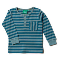 Little Green Radicals Winter Blue Stripe Pocket T 98/ 104/ 110/ 116/ 122/ 128cm