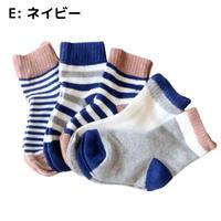 ネイビー Pattern Socks 5足セット 14-16/ 16-18/ 18-22cm