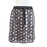 スパンコールビーズ刺繍スカート ブリジットバルドー