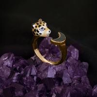 Leopard x Moon Ring  Nuit etoilee