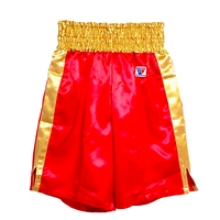 Winning Boxing Pants, Trunks long type Red × Gold F-5-G