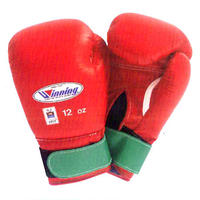 Winning Boxing gloves Junior amateur competition gloves Velcro tape type 10oz Blue / Red U15-12