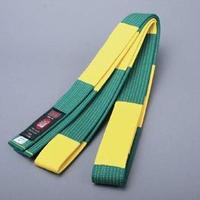 ISAMI Made in JAPAN Jiu-jitsu, BJJ,  Belt obi for referee Green x yellow JBJJF official JJ-3