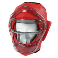 ISAMI Regular head guard for For Non contact Karate Red TT-3C