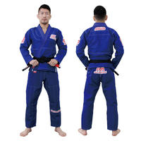 ISAMI Scratch Jiu-jitsu gi Dogi Jacket pants set Blue JJ-790