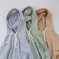 pastel color zip hood