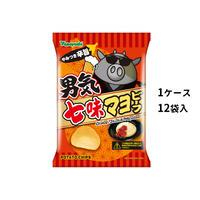 【ケース販売】ポテトチップス 男気七味マヨビーフ (1ケース:90g×12袋入)